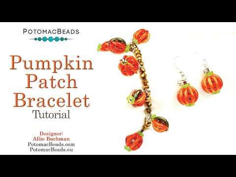 Pumpkin Patch Earrings & Bracelet (Tutorial)
