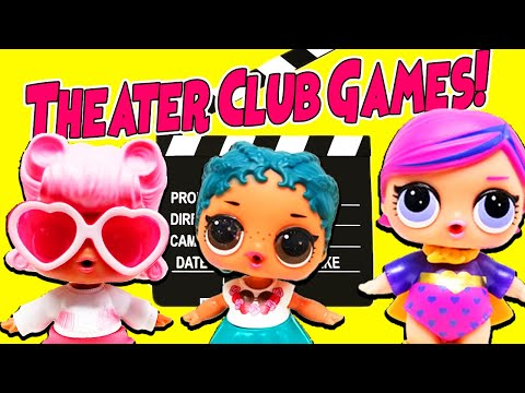 LOL Surprise Dolls Play Theater Club Games! Featuring Angel, Coconut QT, Super BB, MC Swag, & Foxy!