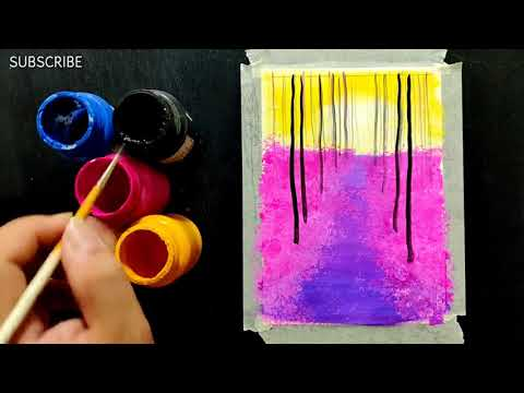 Step by Step Painting ll Easy Landscape Painting Ideas for Beginners