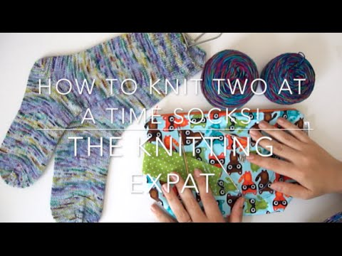 How To Knit Socks Two At A Time Cuff Down With The Knitting