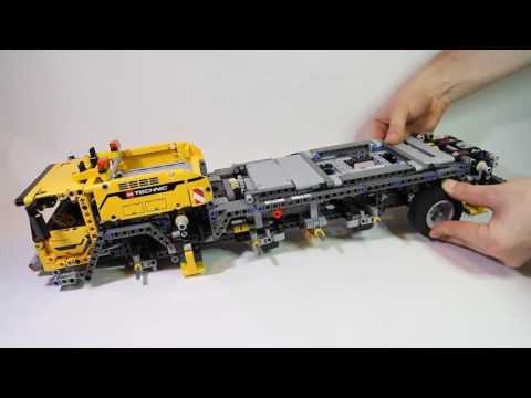 Lego Technic 42009 Mobile Crane MK II   Lego Speed build