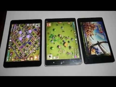 Comparison between Ipad mini retina, Mipad and Nexus 7 2nd G