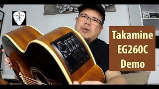 takamine eg260c acoustic electric guitar review demo