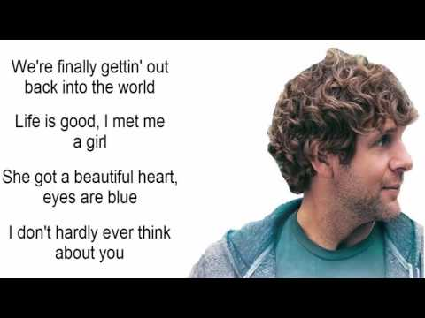 Billy Currington - It Don't Hurt Like It Used To (Lyrics)