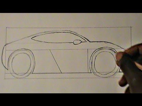 Step By Step Drawing A Car For Beginners Youtube