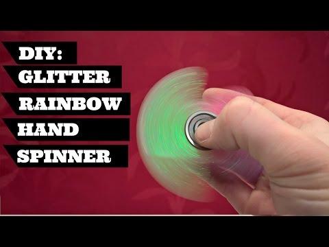 DIY Fidget Toy Spinner Glitter Rainbow    DIY Fidget Hand Spinner Glitter Rainbow