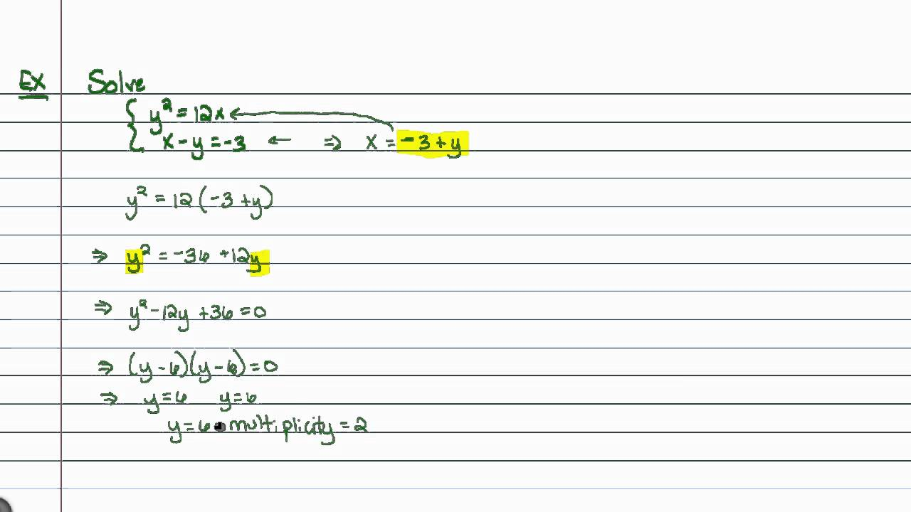 Systems Of Nonlinear Equations Worksheet Worksheets for all ...