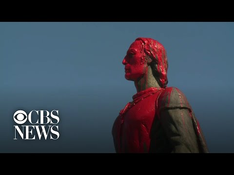 Christopher Columbus Statue Vandalized In San Francisco