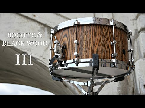 ASSEMBLY AND TEST DRIVE: Bocote & Blackwood Custom Stave Snare Drum