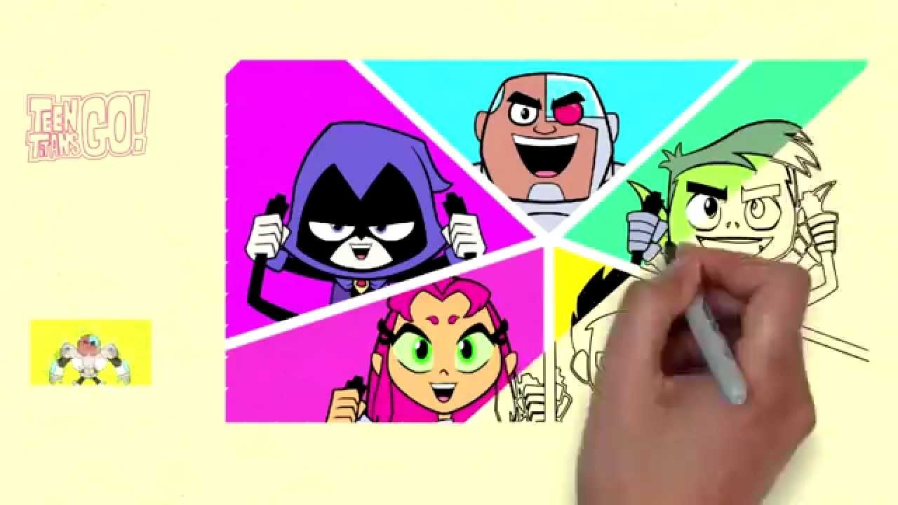 teen titans go coloring for kids characters teen titans go 3