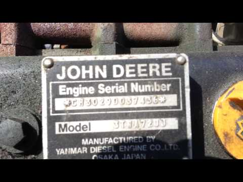 John Deere f935 front mount diesel mower - YouTube