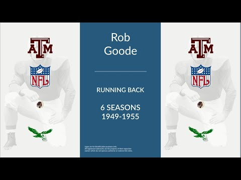 Rob Goode: Football Running Back
