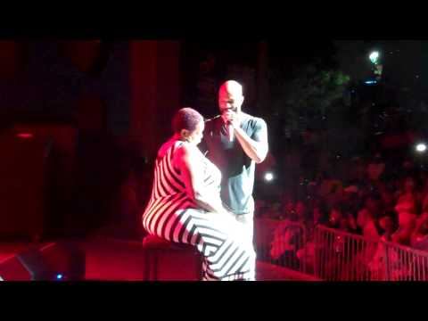 X Urban Music Magazine at Chene Park Rapper Common serenade fan.