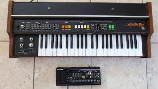 Roland VP-03 (2016) VS. VP-330 Vocoder Plus (1979) - side by side sound battle