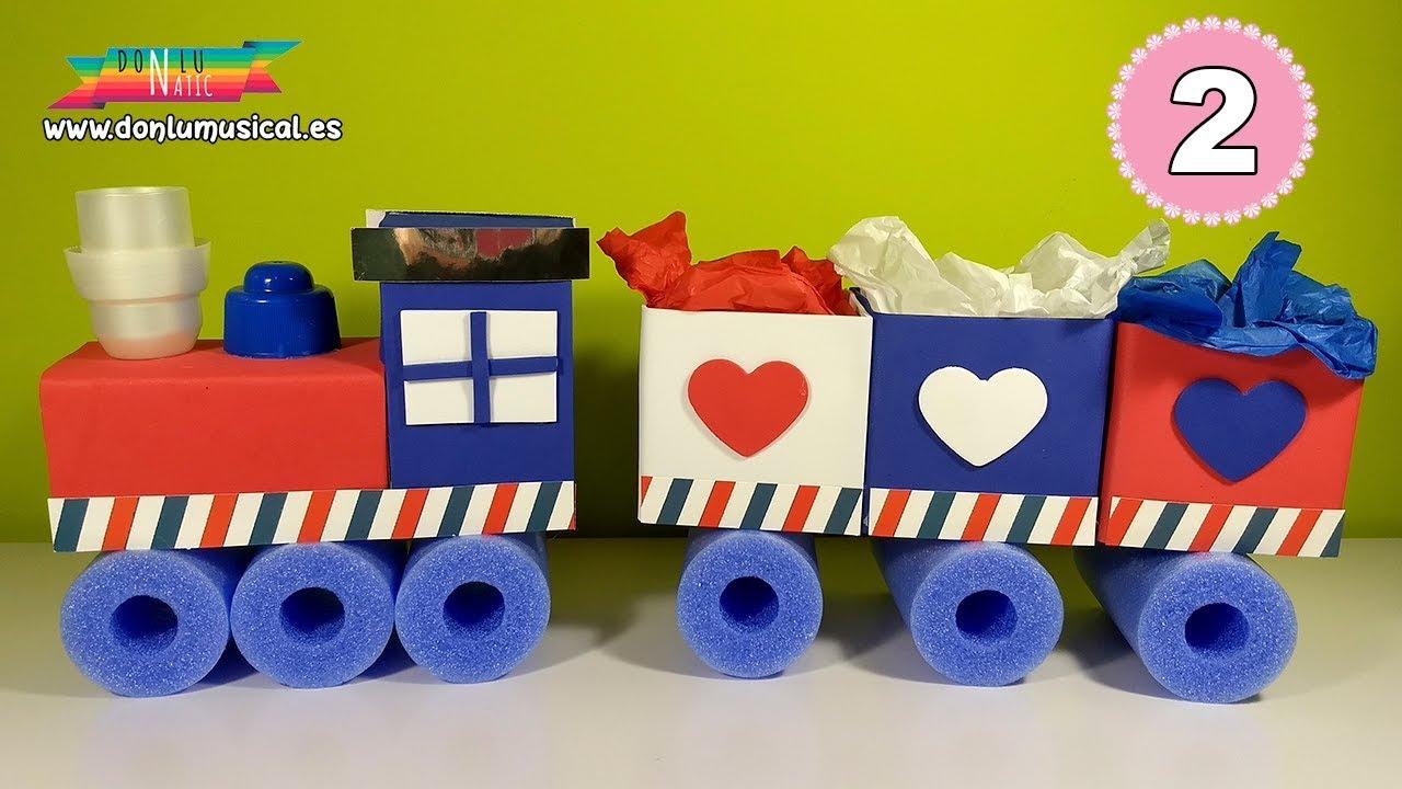 21bf72895 Mesa dulce con reciclaje para cumpleaños y fiestas infantiles. Tren chuches