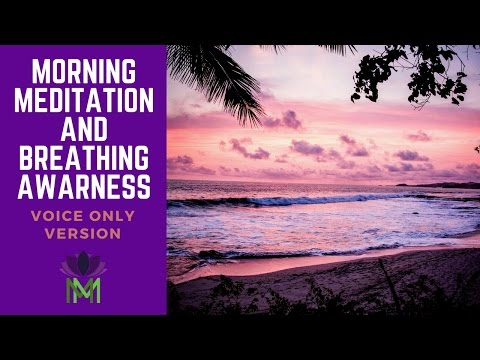 Morning Meditation and Breath Awareness Practice with Voice Only