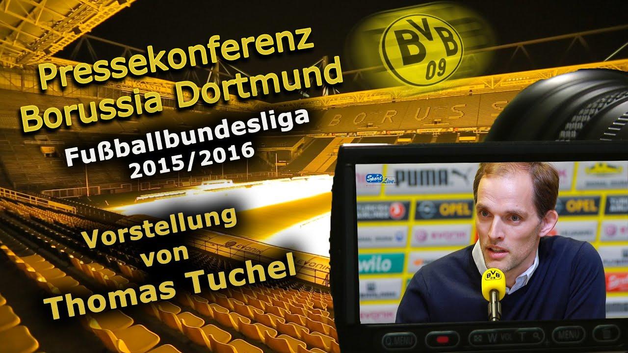 Borussia Dortmund stellt Cheftrainer Thomas Tuchel vor