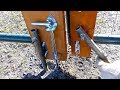 Tube Gate Anchor, Stop and Prop - homemade solutions