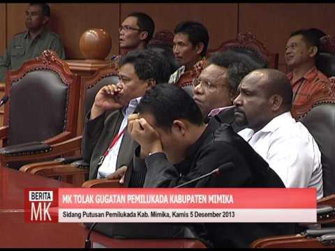 [video] MK Tolak Gugatan Sengketa Pemilukada Kabupaten Mimika