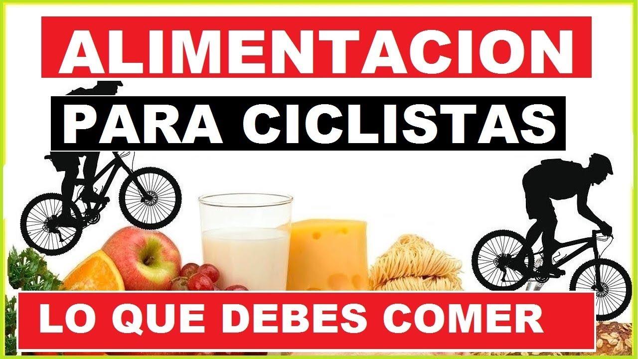 nutrición adecuada para ciclistas