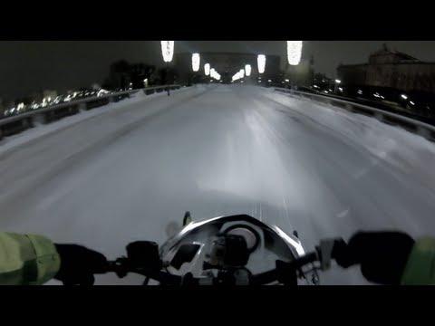 Urban Snowmobile Ride in Stockholm - Daniel Bodin 2012