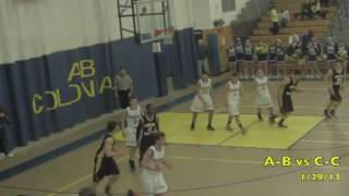 Acton Boxborough Varsity Boys Basketball vs Concord 1/29/13