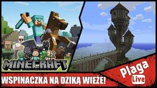 WSPINACZKA NA DZIKĄ WIEŻE! (Minecraft Sztynx #77) | PlagaLive