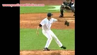 Mariano Rivera Pitching Slow Motion - How to Throw Cutter Cut Fastball Baseball Pitch Instruction