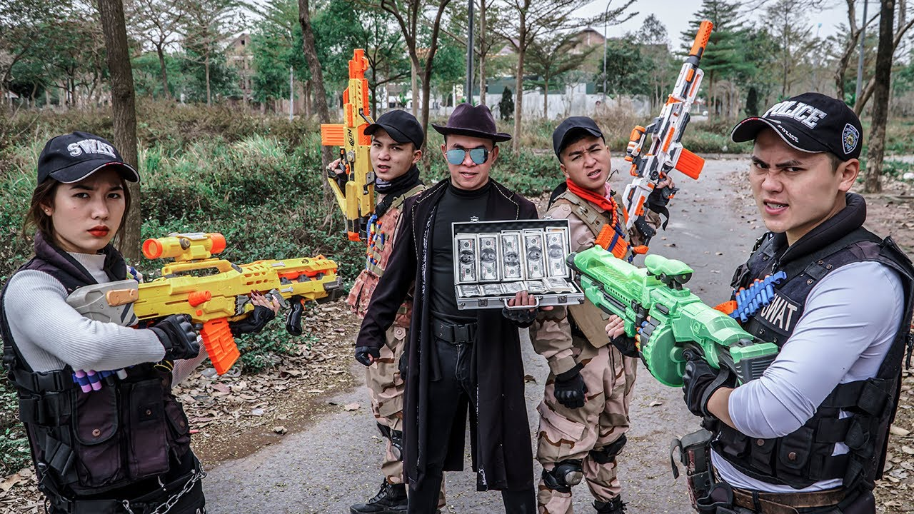 LTT Game Nerf War : Warriors SEAL X Nerf Guns Fight Crime Rocket Crazy Professional Snipers