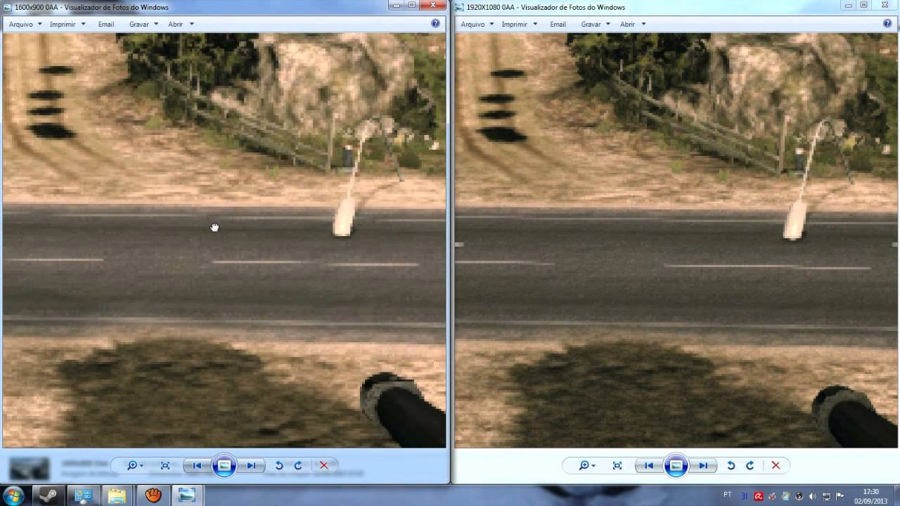 Battlefield 3 - 1600X900 vs 1920X1080 , Comparativo de imagem (900p vs  1080p)