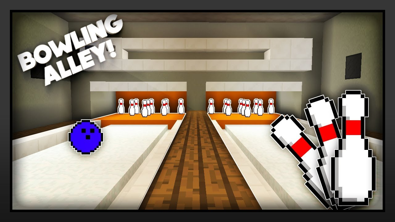 Minecraft - How To Make A Bowling Alley - YouTube