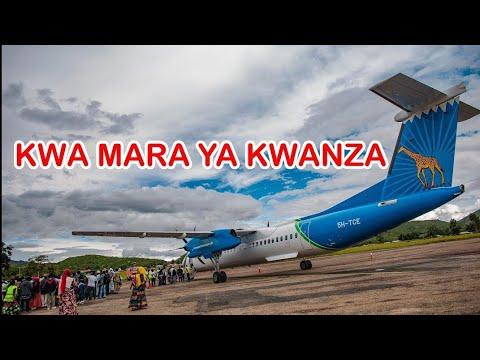 Air Tanzania Iringa Yatua na Maajabu Yake, Mara ya Kwanza Tu Watalii Hao
