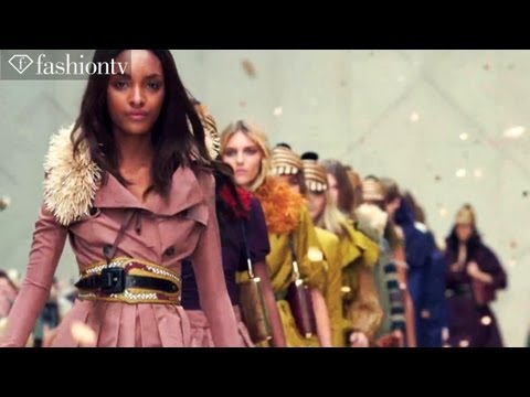 Burberry Runway Show ft Anja Rubik - London Fashion Week Spring 2012 LFW | FashionTV - FTV