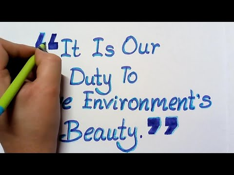 Environment Day Slogan Calligraphy || How To Write Environment Day Quotes