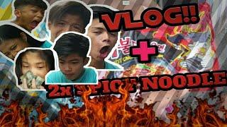 Vlog + 2x Spicy Noodles Challenge! *EPIC HAHAHA* w/ gr 10s