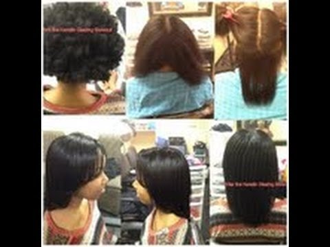 amazing blow out on natural hair keratin glazing