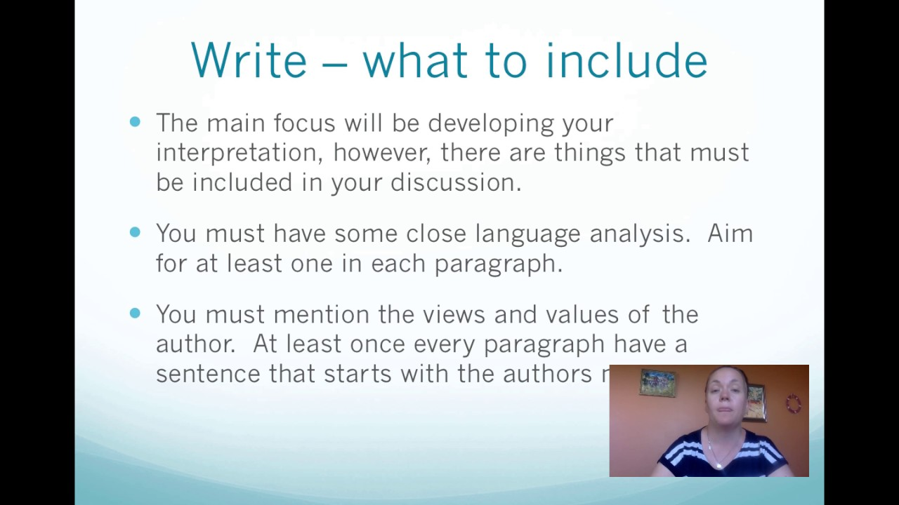 how to write a passage analysis