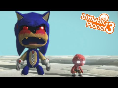 SONIC.EXE IS ALIVE!?   LittleBIGPlanet 3 Gameplay LBP 3