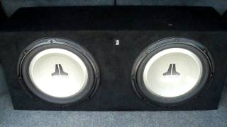 "TWO 12"" INCH JL AUDIO SUBS BUMPIN"