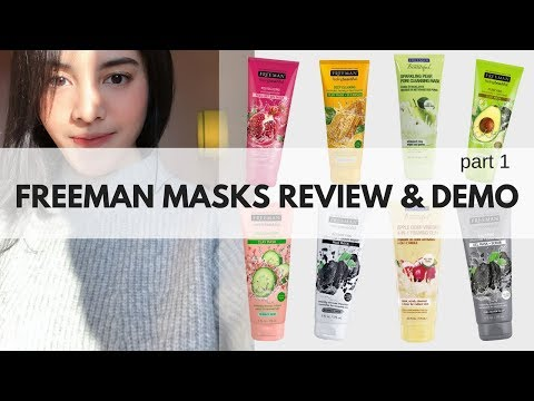 FREEMAN MASK REVIEW & DEMO part 1 (English Subtitle) | Bellinda Putri