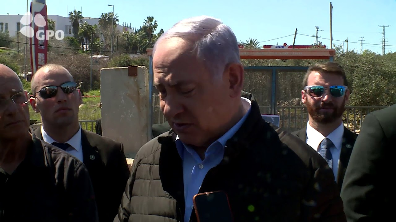 PM Netanyahu Tours the Site of Yesterday's Terrorist Attack at Ariel  Junction