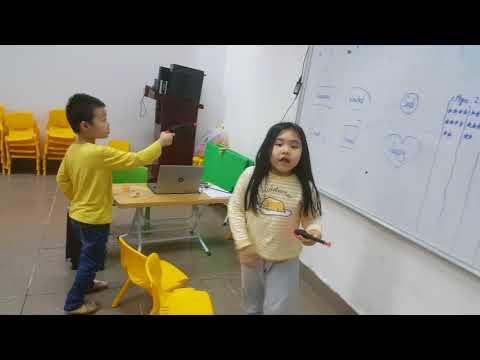 Gun game - Long ft Thuong - Ms Jenny's funny kids