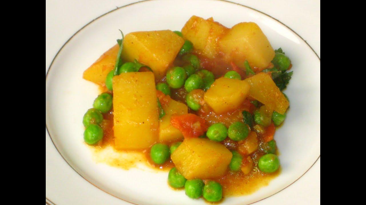 Pommes de terre l 39 indienne avec les petits pois youtube - Comment cuisiner les petits pois ...