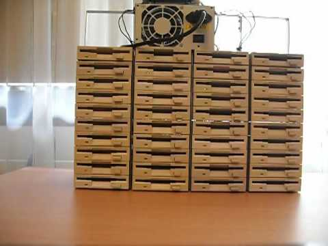 Pirates of the Carribean on 40 floppy drives