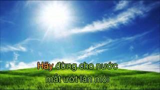 Video Karaoke - Nước mắt em không còn  - Chuẩn HD - Kim tiểu phương