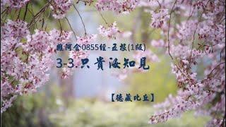 雜阿含0855經-五根(1版)3-3.只貴汝知見[德藏比丘]