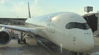 DELTA A350 first class suite: domestic flight DTW to LAX