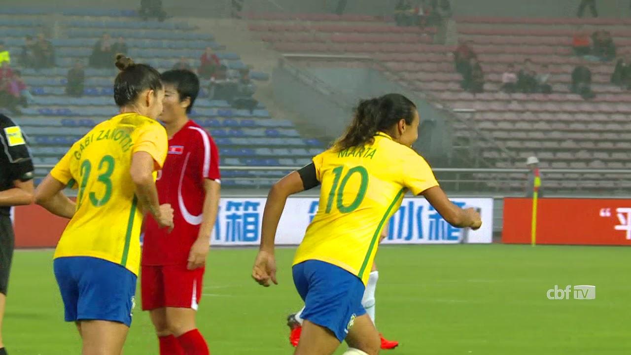 96e459038f Seleção Feminina  assista aos gols de Brasil 2 x 0 Coreia do Norte ...