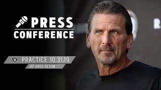 Coach Olson Recognizes Josh Jacobs' Success & Talks Roster Depth | Raiders