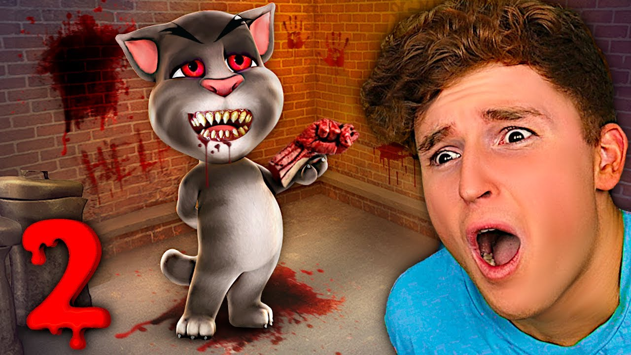 Download Testing Creepy TALKING TOM 2 App For The 1ST Time..